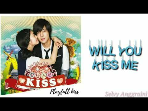 G.NA-Will you kiss me (장난스런 키스 - playfull kiss) [Han/Rom/Sub Indo] (Easy Lyrics)