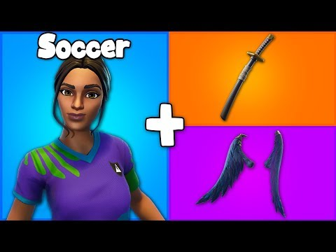 7 AMAZING SOCCER SKIN + BACKBLING COMBOS in Fortnite! (you need these combos)