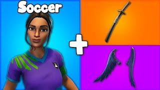 "7 AMAZING ""SOCCER"" SKIN + BACKBLING COMBOS in Fortnite! (you need these combos)"
