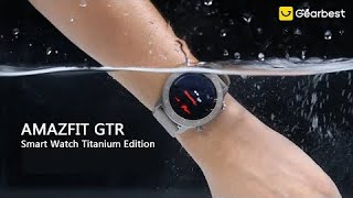 AMAZFIT GTR 47mm Titanium Edition Smart Watch - Gearbest
