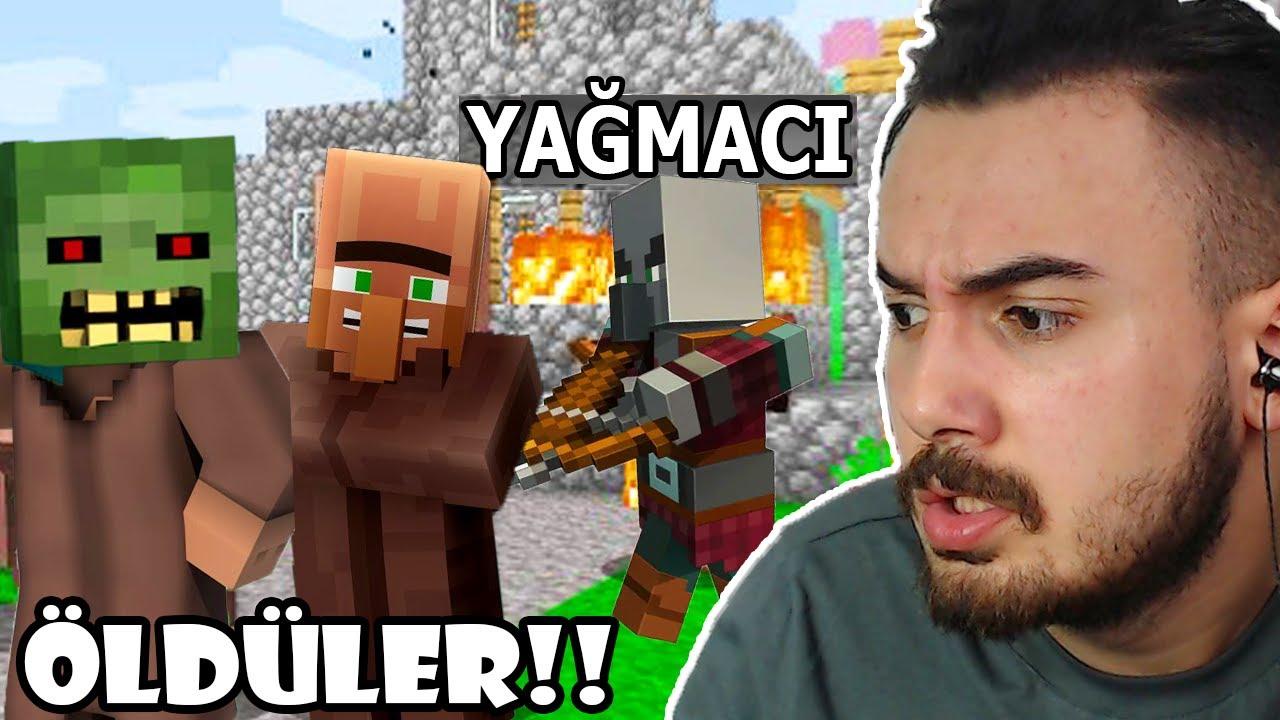 BÜTÜN HERŞEYİMİZ GİTTİ!! KÖYLÜLERİN HEPSİ ÖLDÜ Ekiple Minecraft w/Laz, Berat Ali, Yueko