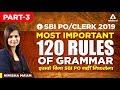 SBI PO/CLERK 2019 | Most important 120 Rules Of Grammar | Part 3 | SBI PO Syllabus | Nimisha Ma'am