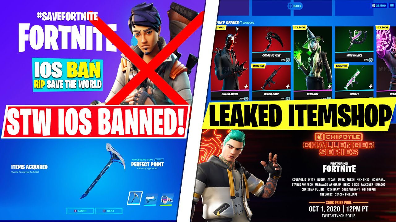NEW Fortnite STW CANCELLED ON IOS! *Free Refunds* Leaked Itemshops, Event Details, Rewards & Update!