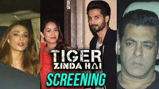 Shahrukh Khan, Iulia Vantur, Shahid Kapoor, Mira Rajput & More At Tiger Zinda Hai Screening