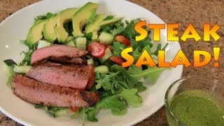 Healthy Steak Salad With Cilantro Lime Dressing Recipe!