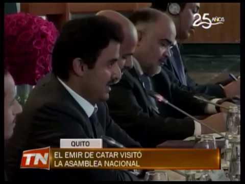 El Emir de Catar visitó la Asamblea Nacional