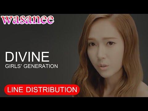 Girls' Generation/Snsd - Divine - Line Distribution (Color Coded MV)