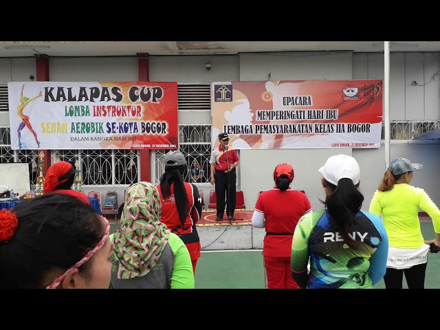 "Peringati Hari Ibu, Lapas Paledang Kota Bogor Gelar ""Kalapas Cup Lomba Instruktur Senam Aerobik"