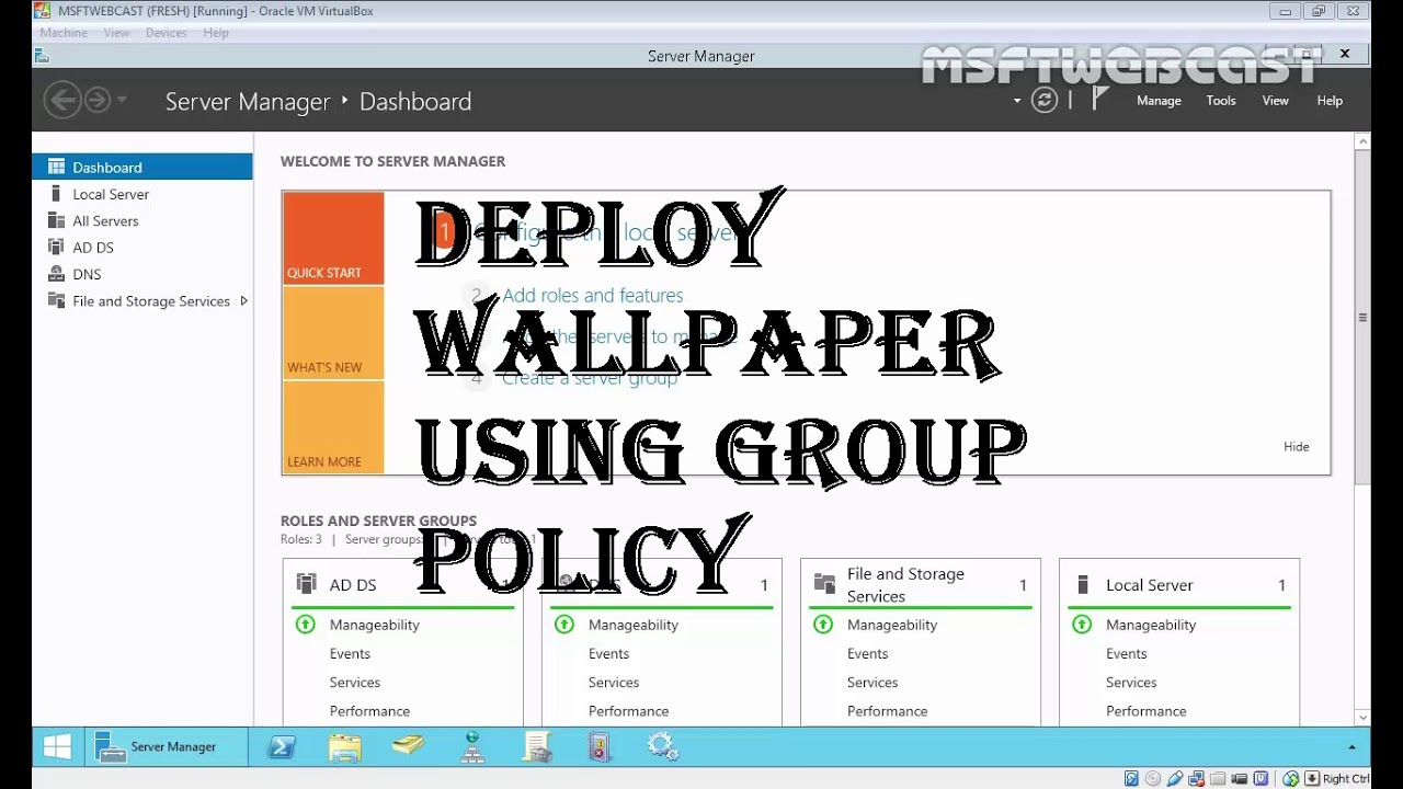 MCSA 70-410: 11 Deploy Wallpaper Using Group Policy - YouTube