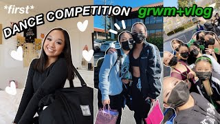 GRWM+VLOG: MY 1ST DANCE COMPETITION *high school team* | Nicole Laeno