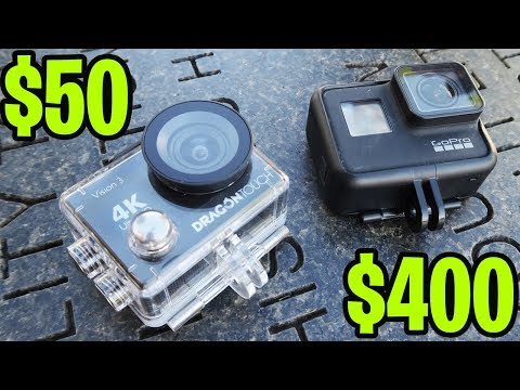 $50 vs $400 4K GoPro Action Camera TEST! (Is there a difference?)