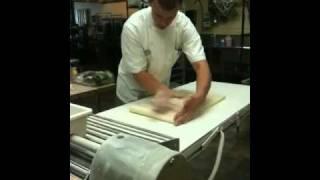 Making croissant dough