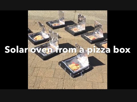Kid's Make Their Own Solar Oven And Dinner!