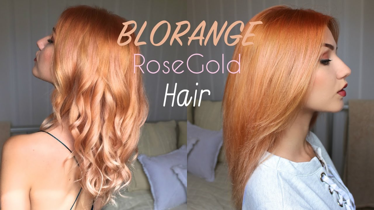blorange | rosegold pastel hair colour | stella - youtube