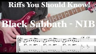 N.I.B - Black Sabbath : Classic Riff Guitar Lesson
