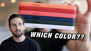 iPhone 12 and iPhone 12 Pro SILICONE CASE REVIEW (What is THE BEST COLOR??)