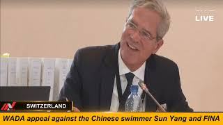 WADA appeal against the Chinese swimmer Sun Yang and FINA || SWITZERLAND