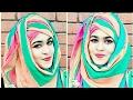 হিজাব স্টাইল - Summer Inspired Without Inner Cap Hijab Style