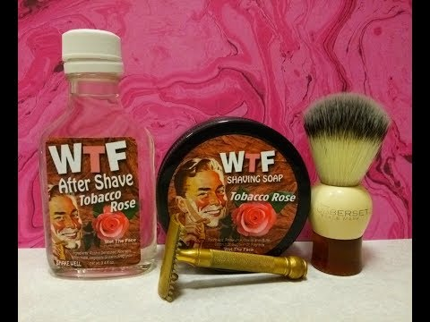 Gillette Old Type, Wet The Face Tobacco Rose soap and aftershave