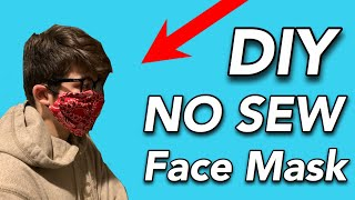 DIY No Sew Face Mask with a Bandana and Hair Ties or Rubberbands