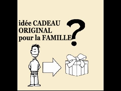 id e cadeau original famille f te des m res enfants anniversaire no l youtube. Black Bedroom Furniture Sets. Home Design Ideas