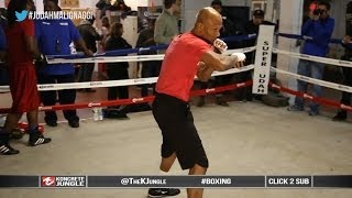 Zab Judah Vs Malignaggi   Old School Shadow Boxing Session   True Hd