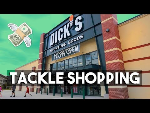 Fishing TACKLE SHOPPING & GIVEAWAY (Dick's Sporting Goods)