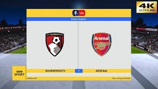 PES 2020 (PC) Bournemouth vs Arsenal | THE EMIRATES FA CUP 4th ROUND | 27/01/2020 | 4K  60 FPS