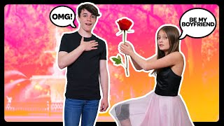ASKING MY CRUSH TO BE MY BOYFRIEND **SURPRISE Valentines Day Proposal**🌹❤️|Sophie Fergi