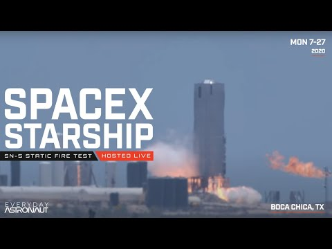 Let's watch SpaceX static fire Starship SN-5!