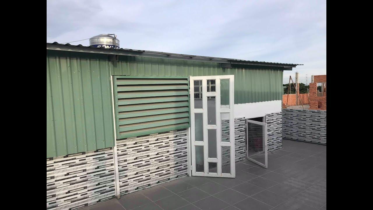 Cách xây dựng tạm một số hạng mục trên mái nhà bằng kết cấu thép tiền chế do vượt giấy phép xây dựng