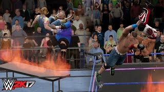 WWE 2K17 EXTREME FLAMING TABLE MOMENTS - WWE 2K17 TOP 10