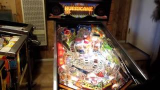 Williams HURRICANE Pinball Machine in Action