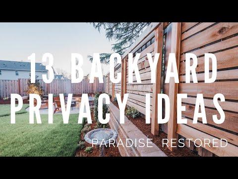 13 Backyard Privacy Ideas / Privacy Screens