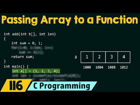 Passing Array As An Argument To A Function