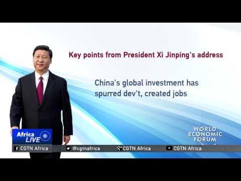 President Xi Jinping promotes economic globalization in speech