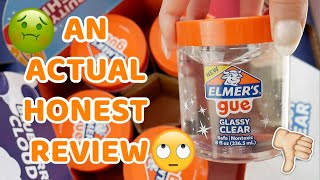 AN ACTUAL BRUTAL 100% HOΝEST REVIEW OF ELMERS NEW SLIMES / GUE