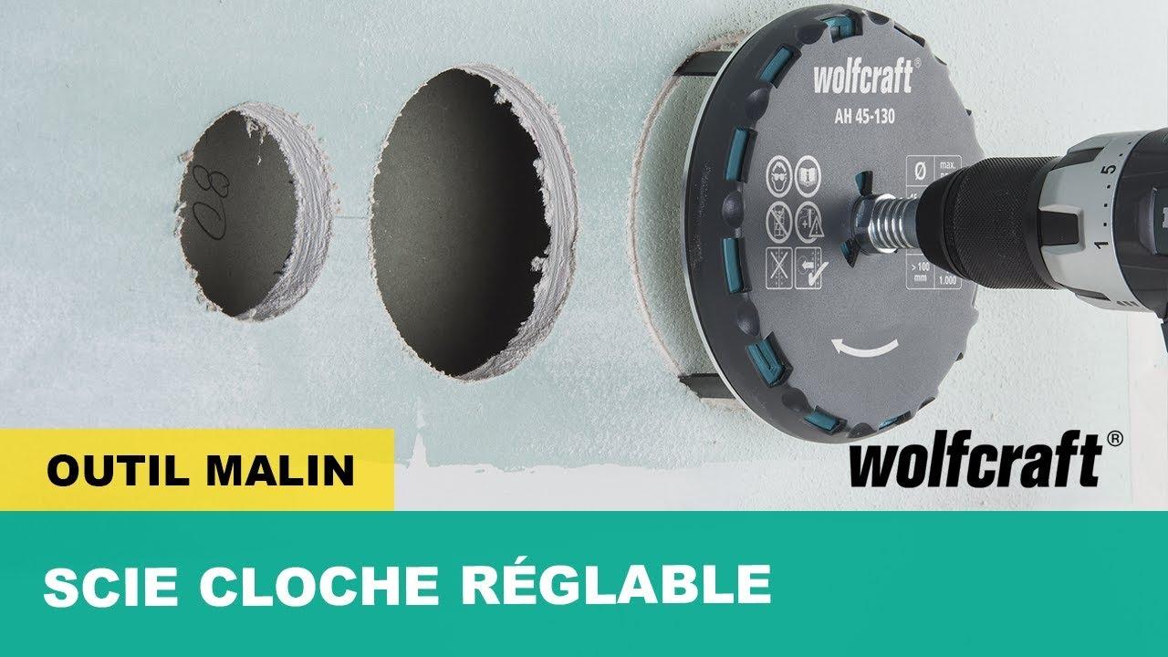 Diametre Scie Cloche Prise De Courant scie cloche à diamètre réglable : rapide & efficace | wolfcraft