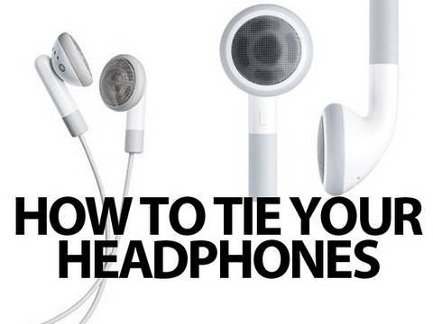 How To Easily Tie Your Headphones/Earbuds - YouTube