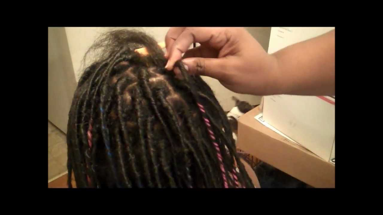 How To Put In Fauxlocs With Wraps Youtube