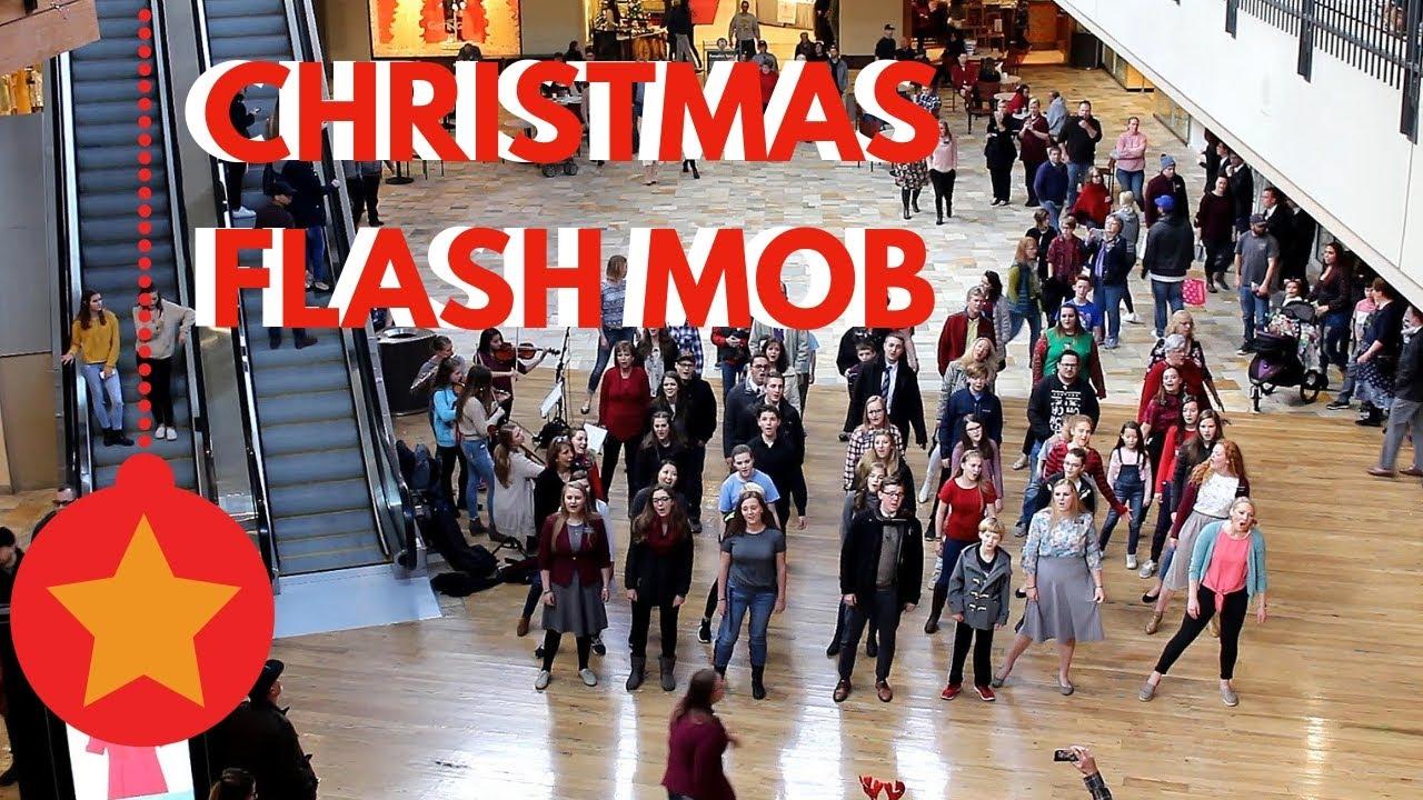 Christmas flash mob   YouTube