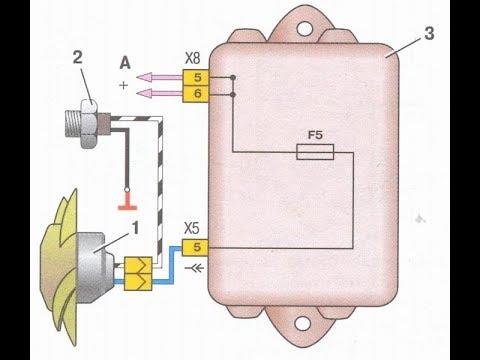 Как сделать проводку вентилятора охлаждения ВАЗ 2109. Самая простая схема.