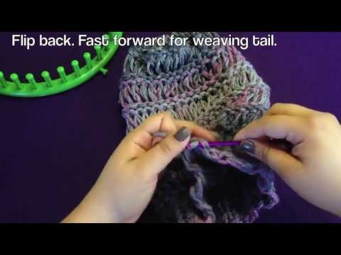 Loom Along Spring Breeze Slouchy Hat With Closed Captions Cc Youtube