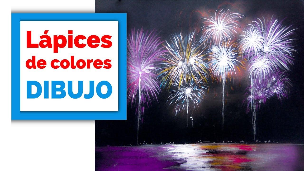 Como Dibujar Fuegos Artificiales Feliz Ano Nuevo Youtube