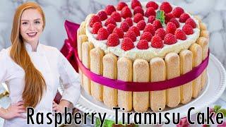 Raspberry Tiramisu Cake Recipe - The Best Raspberry Cake!!