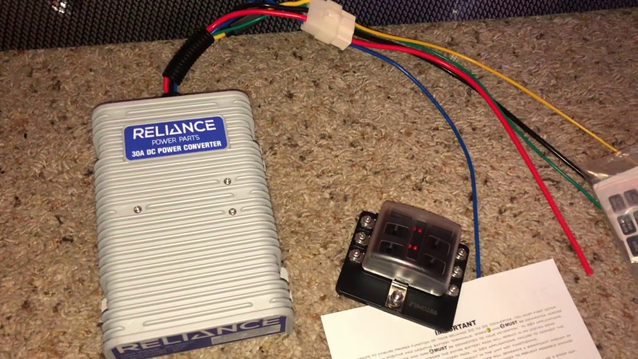 Reliance DC power converter for the Golf Cart on