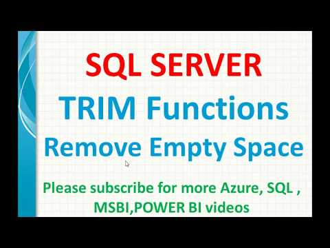 SQL Trim Functions | Remove Extra Space In SQL | SQL LTRIM | RTRIM In Sql