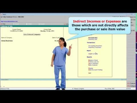 Tally 51 Direct & Indirect Expenses