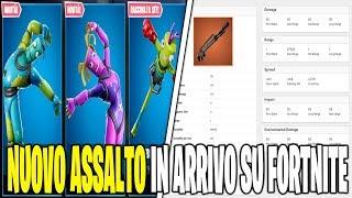 NUOVA ARMA ASSALTO SEASON 8 FORTNITE SHOP 2 MARZO SKIN PIEGHINO