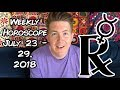 Weekly Horoscope for July 23 - 29, 2018   Gregory Scott Astrology